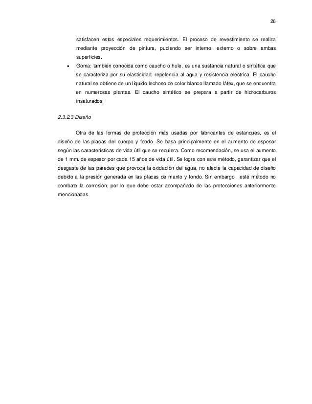 Isidro gomez caceres calculo de estanques norma api for Hule para estanque