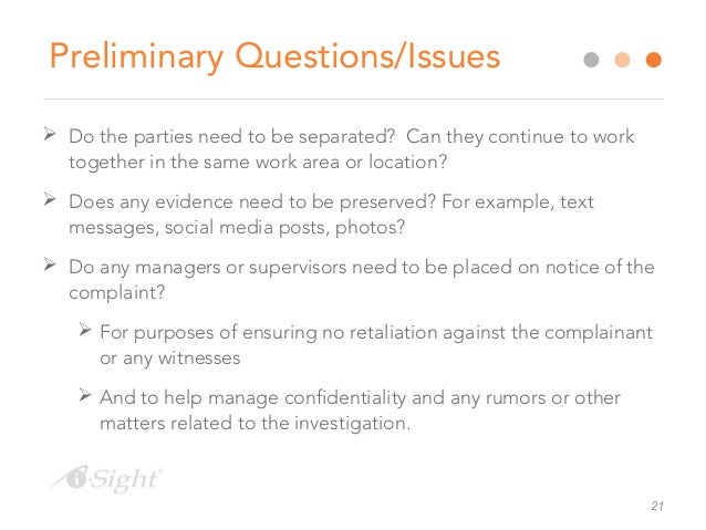 Maths investigation questions for sexual harassment