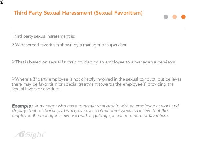Third party sexual harassment examples