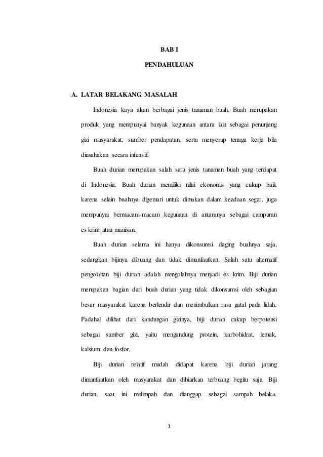 Karya Tulis Ilmiah Es Krim Biji Durian
