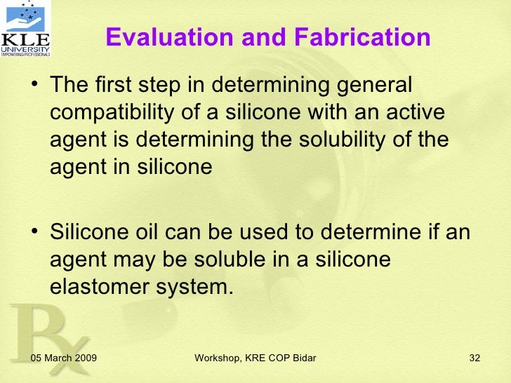 Silicone Based Drug Delivery Systems