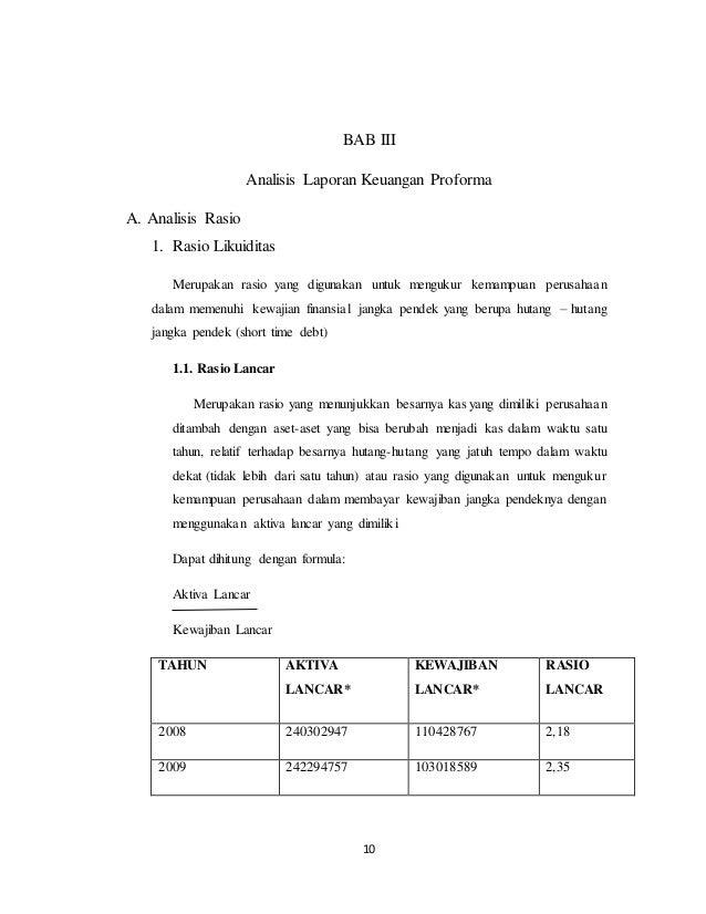 Analisa Laporan Keuangan Dan Proyeksi Pt Sepatu Bata 2008 2012 2013 2