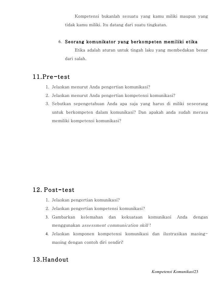 Modul Pelatihan Kompetensi Komunikasi