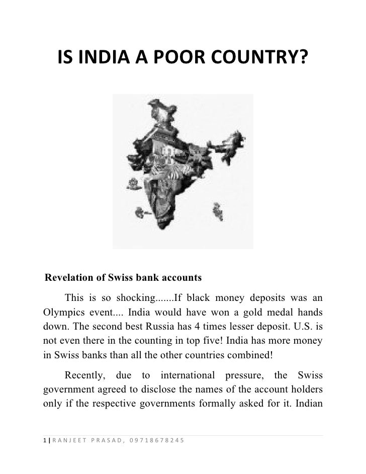 Is India A Poor Country - Is india a poor country