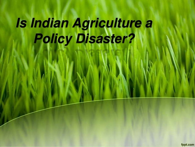 Is Indian Agriculture a    Policy Disaster?