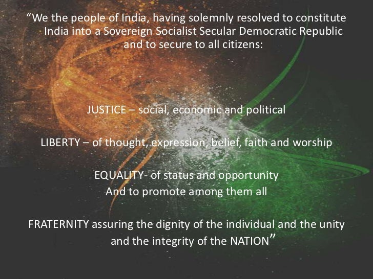 india a socialist secular and democratic Having solemnly resolved to constitute india into a sovereign socialist secular democratic  is very clear that india would be a 'sovereign democratic secular.