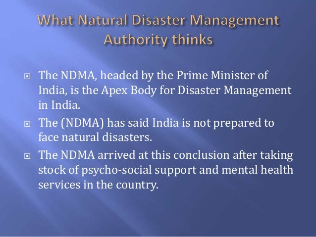 Mental Health Services For Natural Disasters