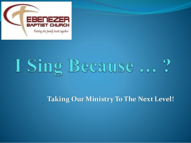 Taking Our Ministry To The Next Level!