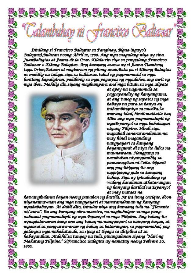 """Isinilang si Francisco Balagtas sa Panginay, Bigaa (ngayo""""sBalagtas),Bulacan noong Abril 12, 1788. Ang mga magulang niya a..."""