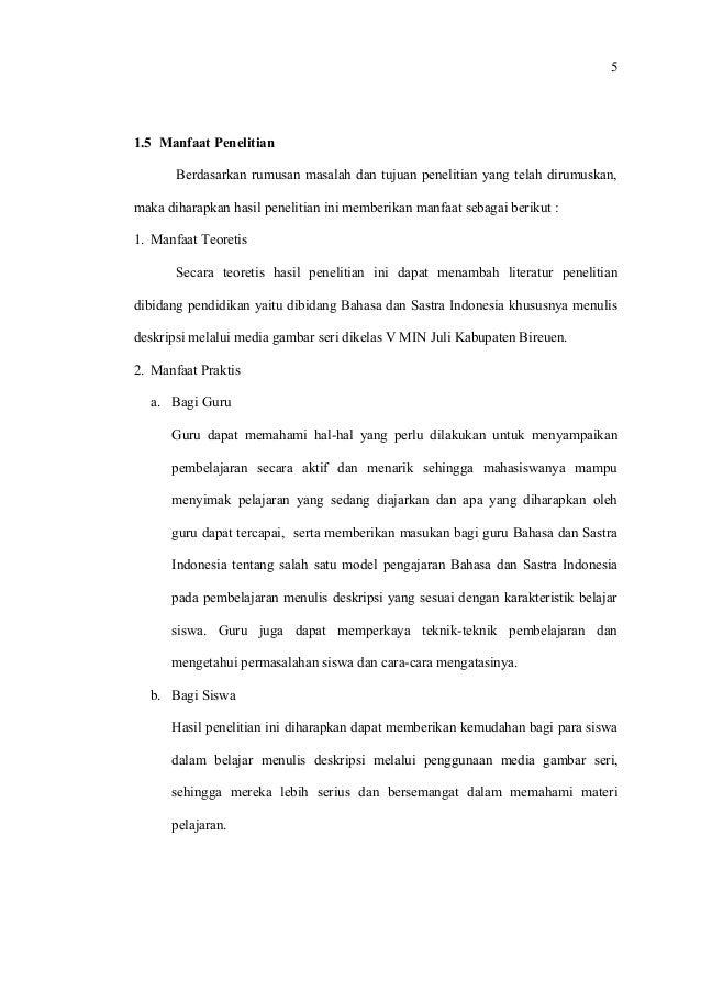 Isi Proposal Skripsi Bhs Indonesia Kak Idawati Bab I