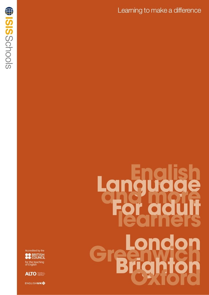 Learning to make a difference     EnglishLanguage and more  For adult   learners    LondonGreenwich  Brighton     Oxford