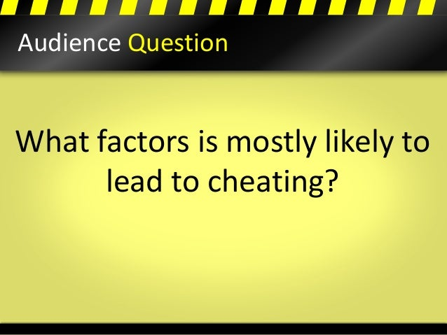 An analysis of the academic cheating as a major problem on all levels