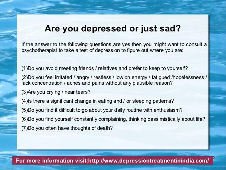 depression compared to sadness