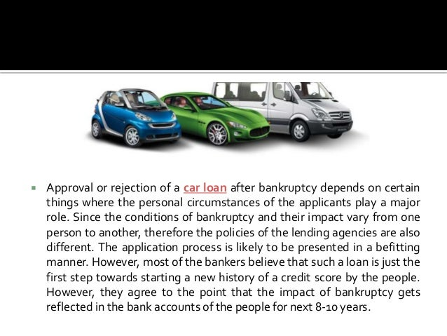 How do you get a car loan after bankruptcy?