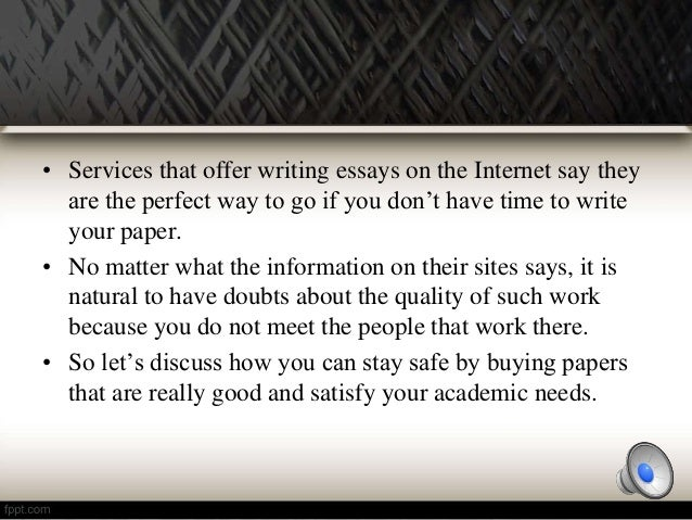 Buying essays online safe