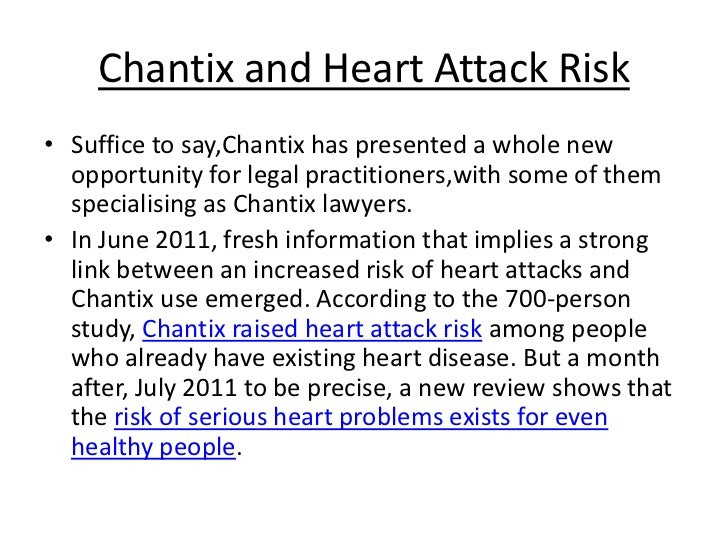 chantix heart problems lawsuit