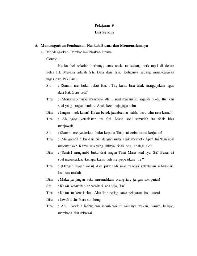 contoh tugas bahasa indonesia membuat drama 4 orang