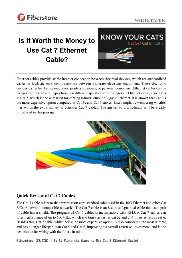 is it worth the money to use cat 7 ethernet cable. Black Bedroom Furniture Sets. Home Design Ideas