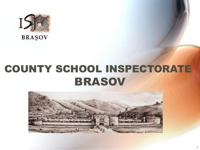 COUNTY SCHOOL INSPECTORATE  BRASOV  1