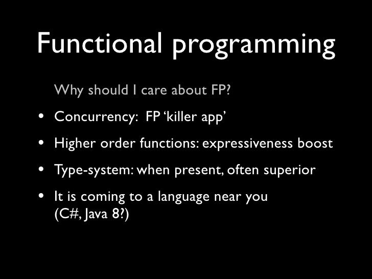 the functional imperatives What is the difference between functional and imperative programming why should one who is used to imperative programming learn functional programming, and vice versa.