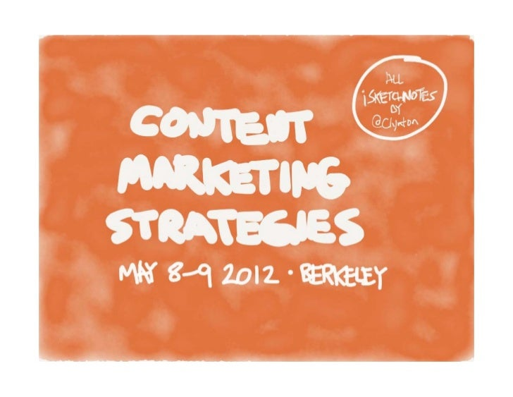 iSketchnotes from Content Marketing Strategies Conference 2012 with iPad app Paper