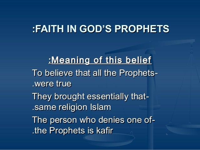 Belief In Risalat