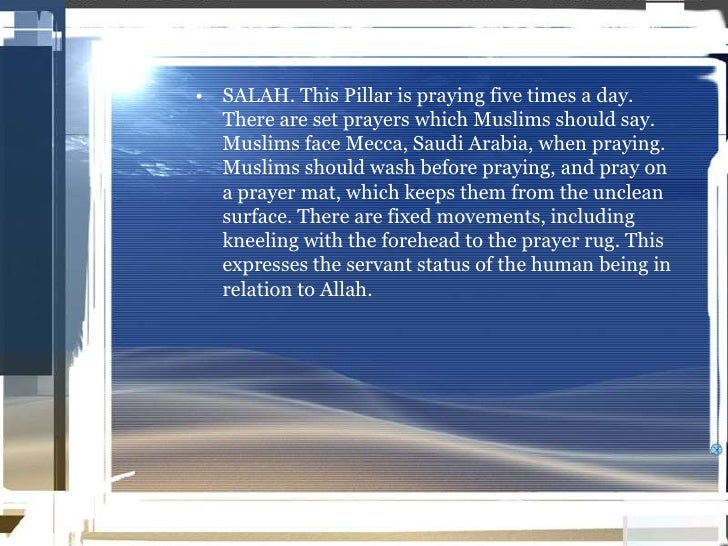 what is the 6th pillar of islam
