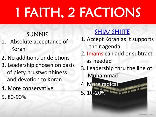 a comparison of the similarities and differences in religious views and leadership between the sunni The purpose of this research is to explore and examine the similarities and differences between the concepts of servant leadership (s-l) and islamic leadership (i-l) through identifying the characteristics of both concepts as represented in the.