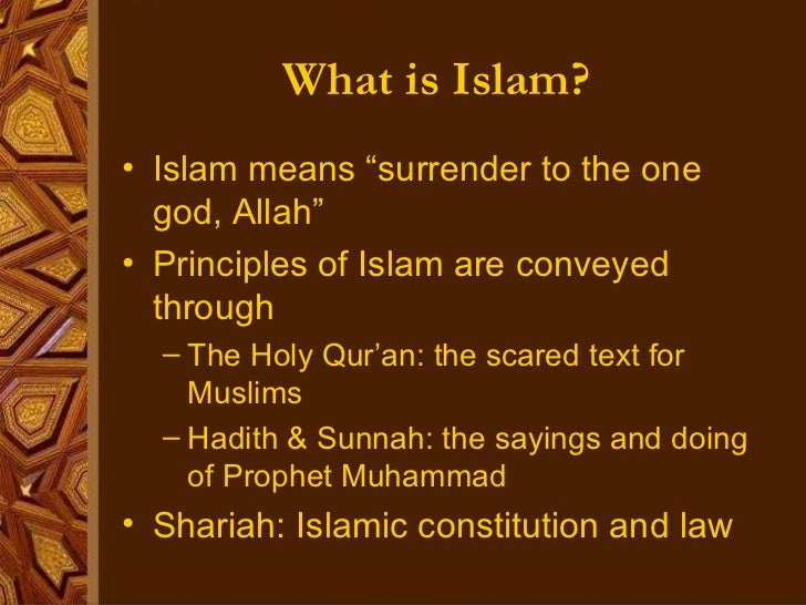 what is islam  islam means