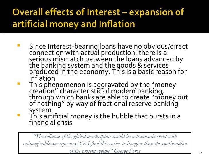 <ul><li>Since Interest-bearing loans have no obvious/direct connection with actual production, there is a serious mismatch...