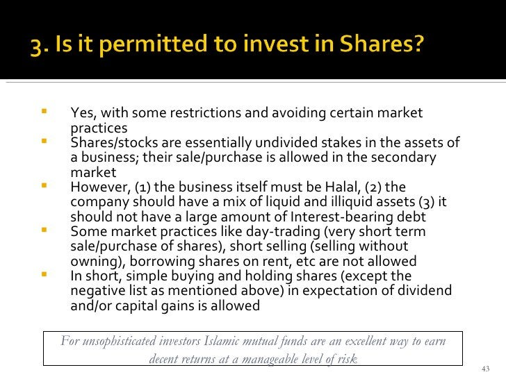 <ul><li>Yes, with some restrictions and avoiding certain market practices </li></ul><ul><li>Shares/stocks are essentially ...