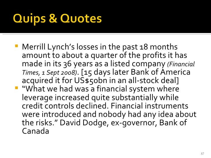 <ul><li>Merrill Lynch's losses in the past 18 months amount to about a quarter of the profits it has made in its 36 years ...