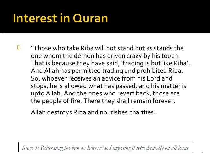 """<ul><li>"""" Those who take Riba will not stand but as stands the one whom the demon has driven crazy by his touch. That is b..."""
