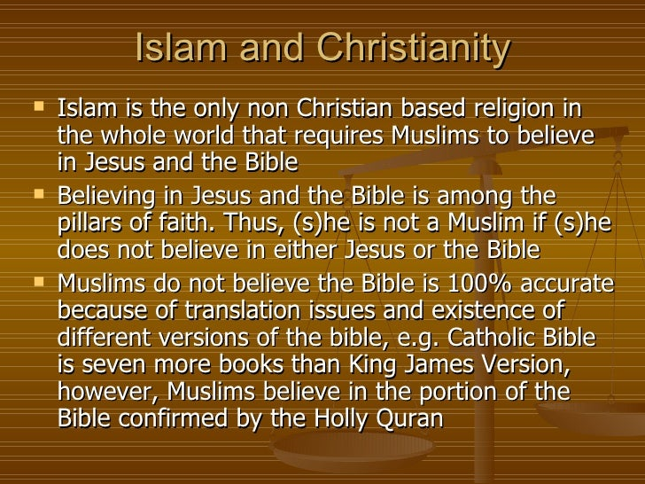 a comparison of christianity and islam Much rhetoric is being banded around in our western society, even by christians, putting forth the notion that the god of the bible and the god of islam are.