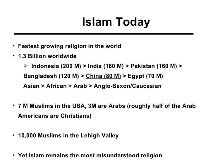 Islam Mission Fest - Religion in the world today