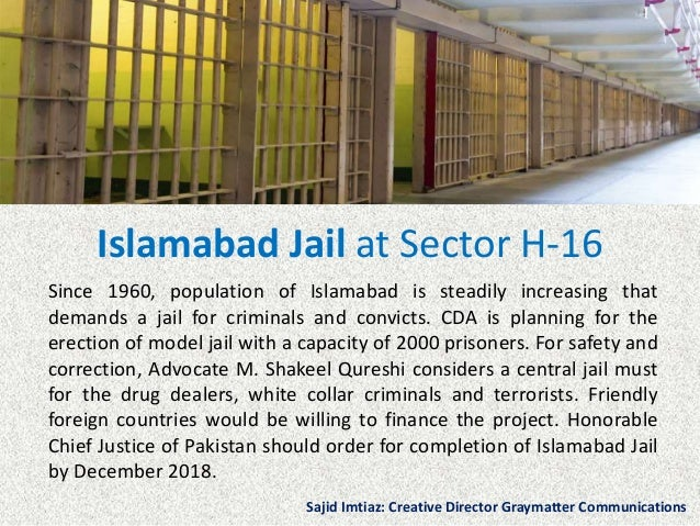 Islamabad Jail at Sector H-16 Since 1960, population of Islamabad is steadily increasing that demands a jail for criminals...