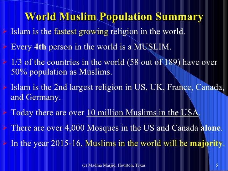 Islam And Muslims Today - Religion in the world today