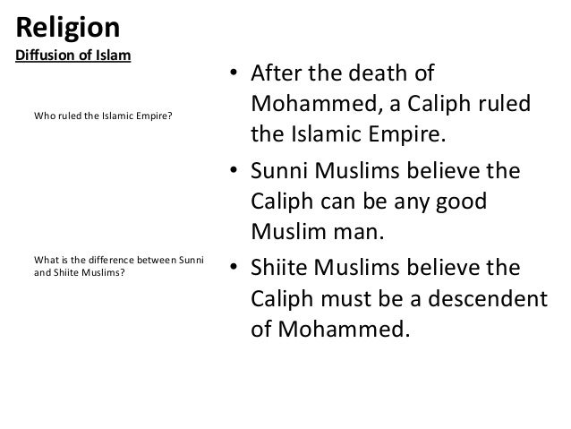 differences between shiite and sunni islam Here is a primer on the basic differences between sunni and shia islam what caused the split a schism emerged after.