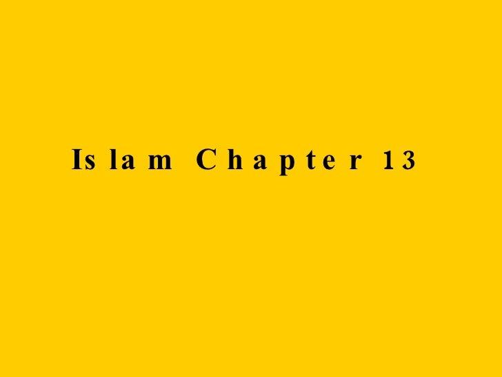 Islam Chapter 13
