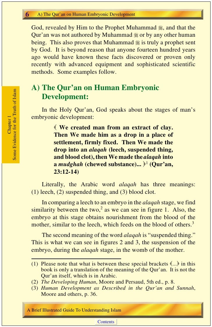 A) The Qur'an on Human Embryonic Development             7                                                                ...