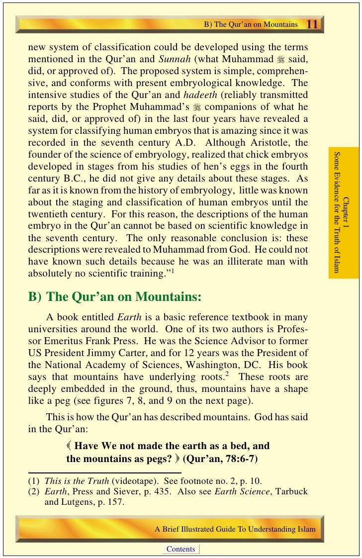 12   B) The Qur'an on Mountains                                            Figure        7:                               ...