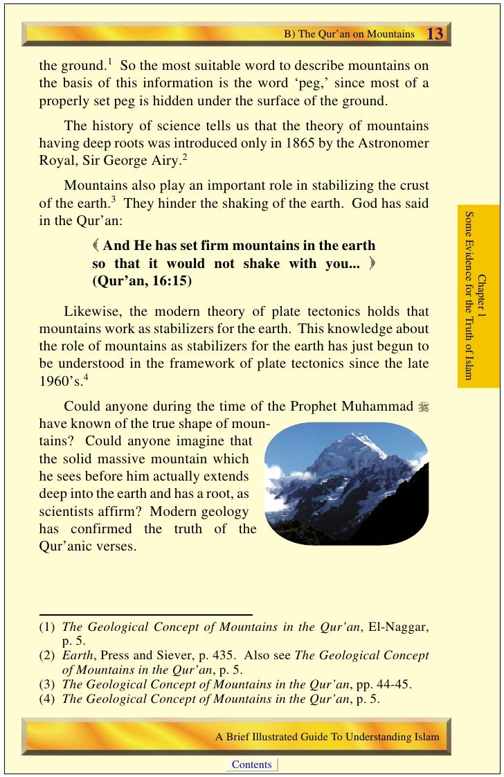 14   C) The Qur'an on the Origin of the Universe                                            C) The Qur'an on the Origin of...