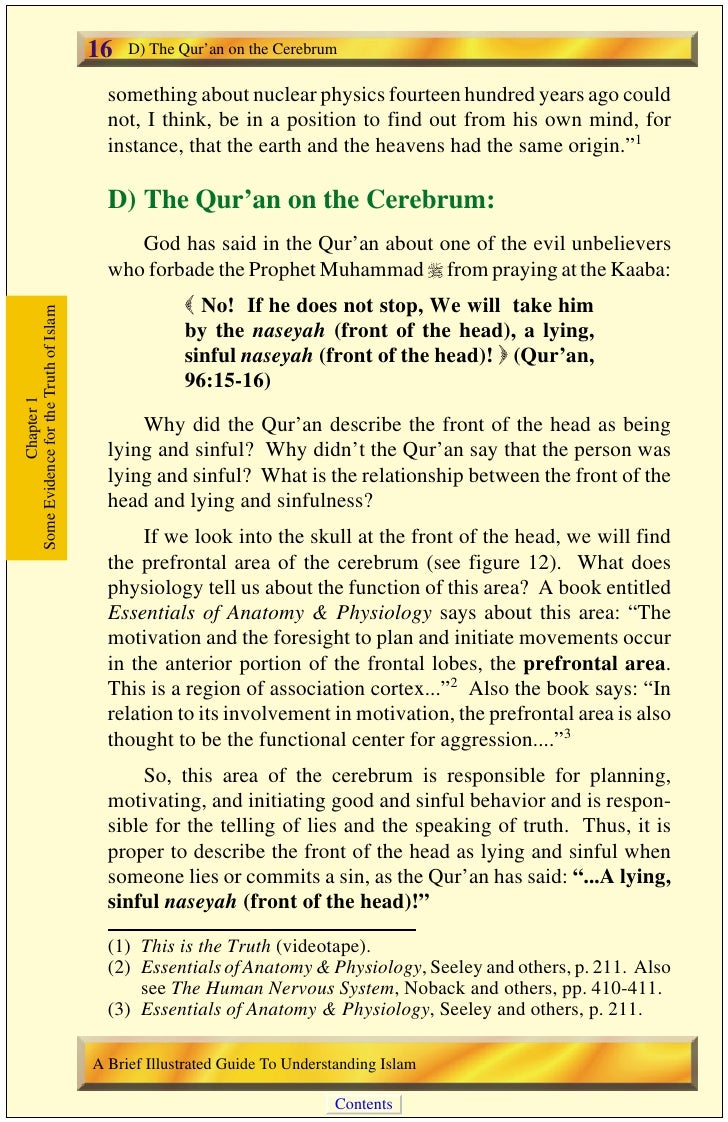 E) The Qur'an on Seas and Rivers       17                                                                                 ...