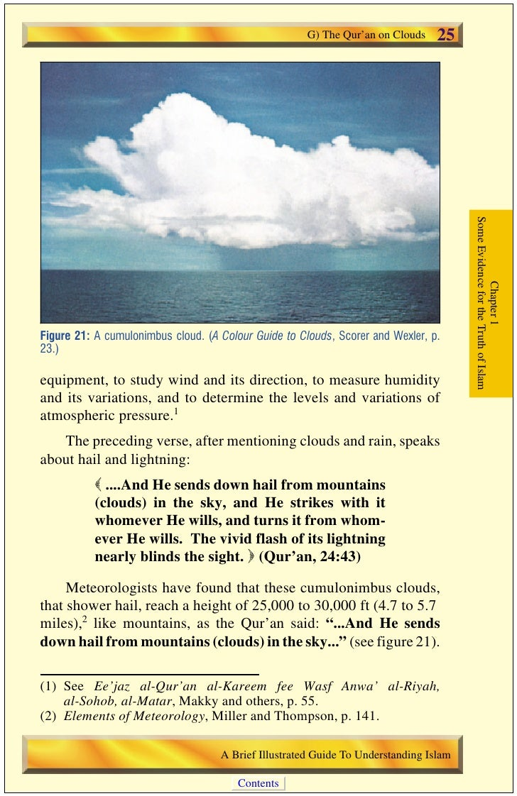 26   G) The Qur'an on Clouds                                                This verse may raise a question. Why does the ...