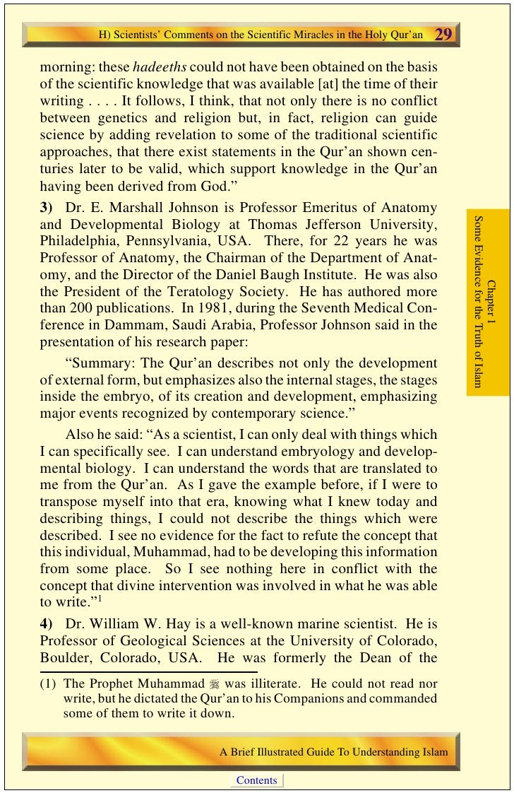 30   H) Scientists' Comments on the Scientific Miracles in the Holy Qur'an                                           Rosen...
