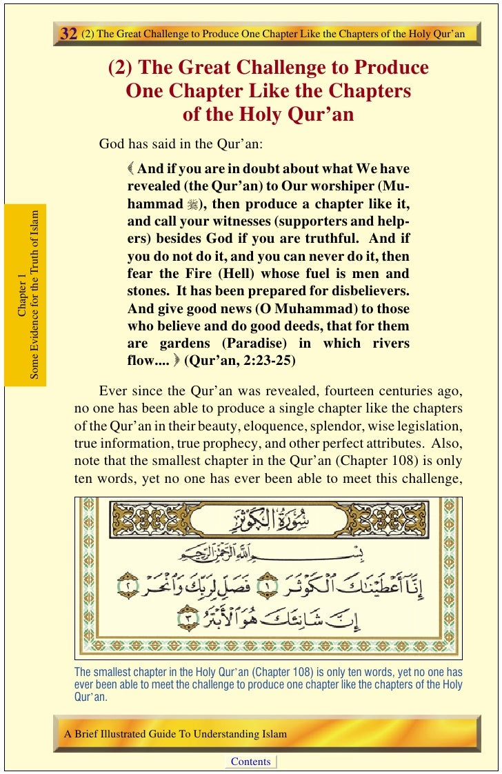 (3) Biblical Prophecies on the Advent of Muhammad , the Prophet of Islam   33 then or today.1 Some of the disbelieving Ara...