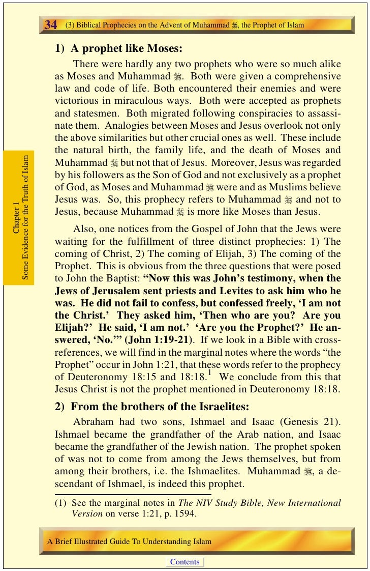 (4) The Verses in the Qur'an That Mention Future Events Which Later Came to Pass   35      Also, Isaiah 42:1-13 speaks of ...