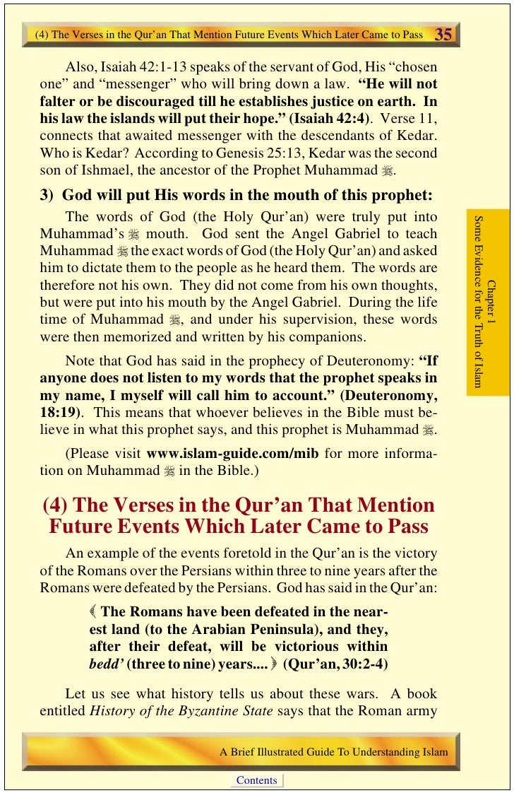 36   (5) Miracles Performed by the Prophet Muhammad                                           was badly defeated at Antioc...