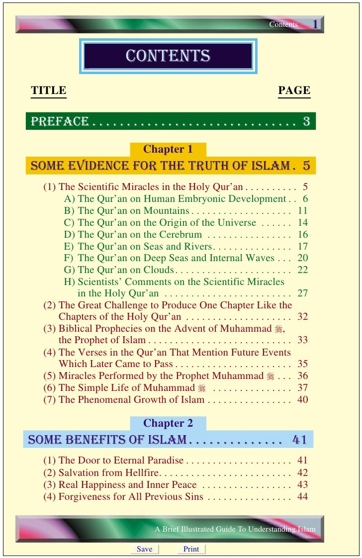 2    Contents                                           Chapter 3     general information on Islam. . . . . . . 45       W...