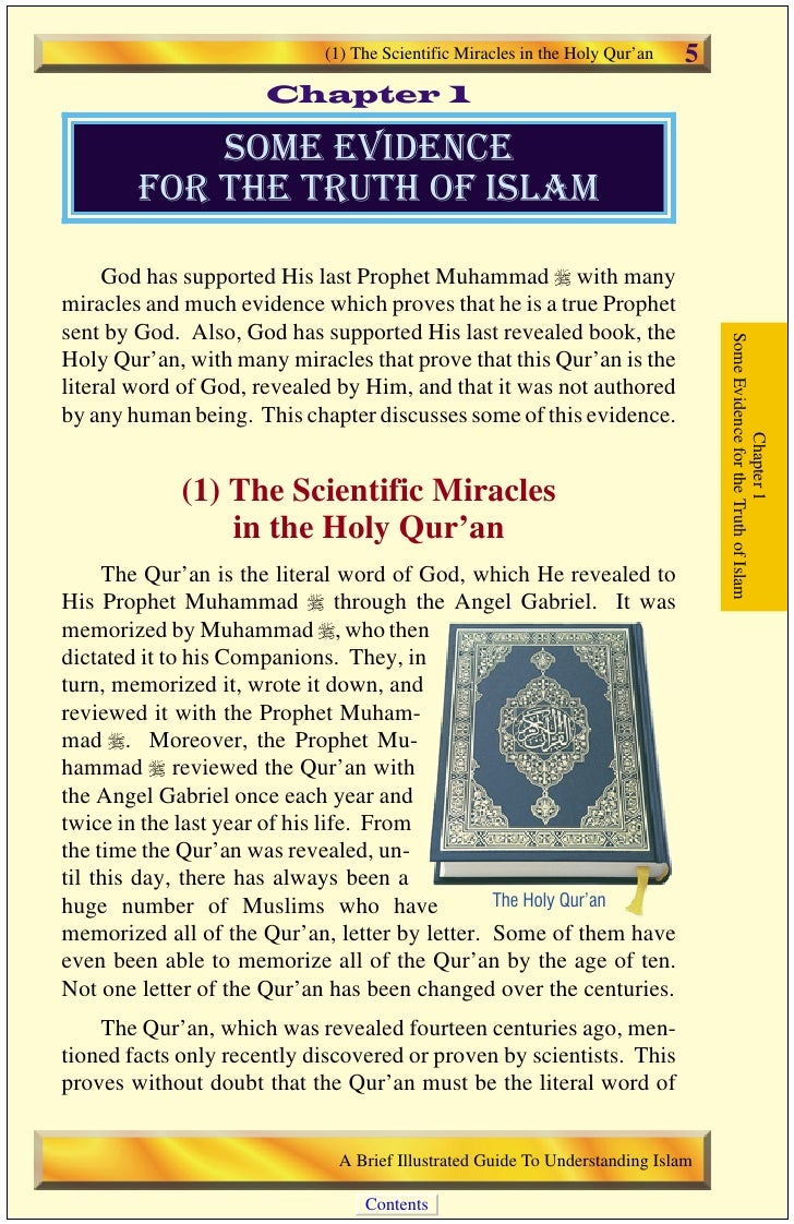 6     A) The Qur'an on Human Embryonic Development                                             God, revealed by Him to the...